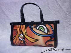 A comic-inspired #bag A Comics, Inspired, Bags, Inspiration, Fashion, Handbags, Biblical Inspiration, Moda, Fashion Styles