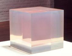 Pink Blue Cube, 1967 by Peter Alexander. Light and Space. Contemporary Sculpture, Contemporary Art, Resin Sculpture, Light And Space, Transparent, Installation Art, Glass Art, Artwork, Painting