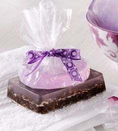 Pretty and sweet-smelling, this handmade soap will dazzle your senses.