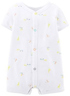 Carters Unisex Baby Print Romper Baby  CarsGiraffes  6 Months * Want to know more, click on the image.