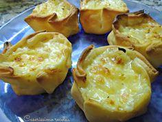 CANASTITAS FUGAZZETAS   Caserissimo Muffin Tin Recipes, Snack Recipes, Cooking Recipes, Snacks, Argentina Food, Argentina Recipes, Good Food, Yummy Food, Yummy Yummy