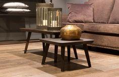 Bijzettafeltjes in landelijke stijl bij Meubelen Larridon #bijzettafel #meubelenlarridon #landelijjk #salon #interieur