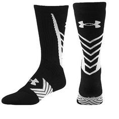 7b256e1e6 Under Armour Heatgear Mens XLarge Black White Undeniable Crew XL Socks U470  #Underarmour #Athletic