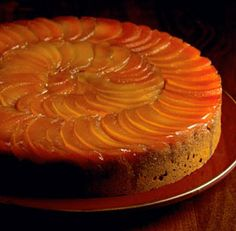 Upside-Down+Quince+and+Honey+Spice+Cake