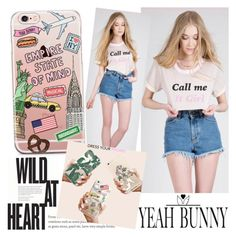 """""""YEAH BUNNY"""" by gaby-mil ❤ liked on Polyvore featuring iphone and case"""
