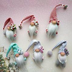 20 Christmas Gnome Ornaments – A Quick, Adorable Craft Woodland Christmas, Christmas Gnome, Diy Christmas Gifts, Christmas Projects, Christmas Ornaments, Christmas Mantels, Rustic Christmas, Christmas Holidays, Christmas Ideas