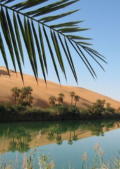 Um-la-Maa, on of the Dawada (Ramla) Lakes, in the Ubari sand sea, Libya (LY) - Africa
