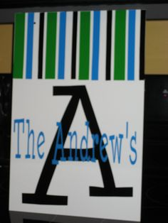 Stripe Metal Yard Sign by simplyputcreations on Etsy, $25.00