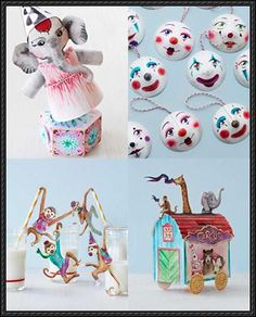 Circus Paper Crafts with Printables Free Templates Download