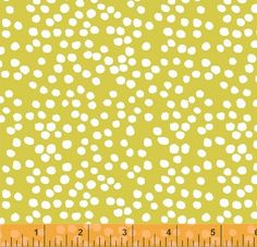 Bella Dots in Citron Fabric by Lotta Jansdotter for by FabricBubb, $10.00