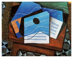 'Still Life with Guitar on a Table' (1915) by Juan Gris.