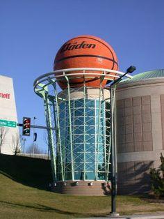 My life - basketball up on a pedestal.