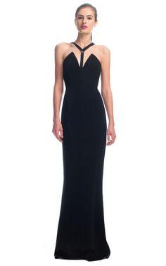 Cushnie et Ochs Harness 4-Ply Silk Crepe Gown