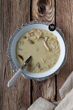 Zupa grzybowa z mrożonych borowików z ziemniakami i łazankami. Pyszna zupa grzybowa. Cheeseburger Chowder, Food Porn, Food And Drink, Cooking, Fit, Kitchen, Cuisine, Koken, Brewing