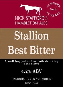 Nick Stafford Hambleton Brewery - Stallion Best bitter 4,2% REAL ALE hana