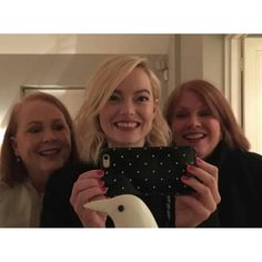 """Emma with her mother and her aunt in London recently #emmastone via @breckos1984"""""""