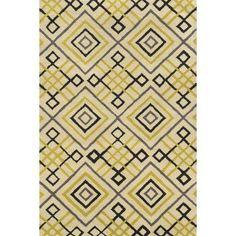 Rizzy Home Green- Ochre Rug In Wool 5'x8'