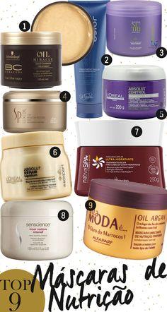 Máscaras de nutrição: as minhas preferidas, as que mais amo pra nutrir os cabelos! São 9 opções de todos os preços, pra todos os gostos e bolsos, vem ver!