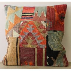 Kelim+Kussen+II - Kelim pillow for your bohemian interior - Mix and match! - More pillows with print available