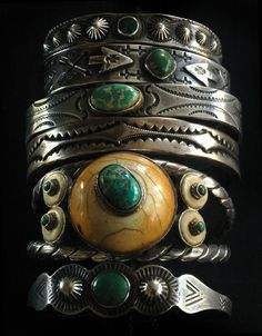 Green turquoise - so beautiful! (Turquoise turns Green over Many Years of Wearing, If it is UNSTABALIZED. Most Sky Blue Turquoise You See, Has been Treated, or Stabalized).