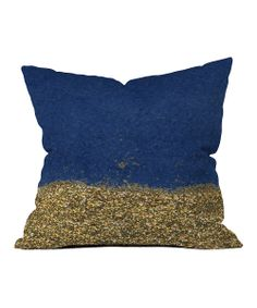 Navy Dipped in Gold Throw Pillow | zulily