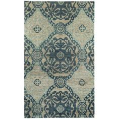 Round About Ring Leader Hand-Knotted Area Rug, Blue