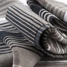 Dark Multi Stripe Towels