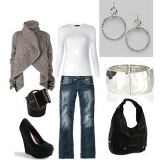 Super frikkin cute love everything about this outfit. This is a me outfit. Look Fashion, Winter Fashion, Fashion Outfits, Womens Fashion, Style Wish, Style Me, Shoes Style, The Cardigans, Fall Winter Outfits