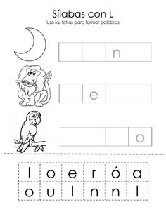 Sílabas con L Usa las letras para formar palabras l o e r ó a o u l n n l         n                  o...