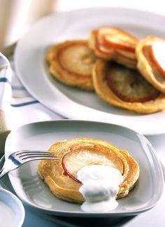 Saftige Püfferchen mit Äpfeln als Dessert oder Hauptspeise
