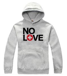 Eminem E-superman Hiphop NO LOVE Hoodie