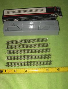 Marklin #8592 Adjustable Straight Track 100 - 120mm Box of 5 ~ NOS Italy #Mrklin