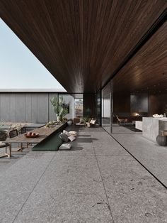 Desert Palisades is designed by Studio AR&D Architects and visualised by Kirill Vill and will be located in Los Angeles, California. Design Hotel, Design Exterior, Interior And Exterior, Future House, My House, Desert Homes, Dream House Exterior, Lounges, Modern House Design