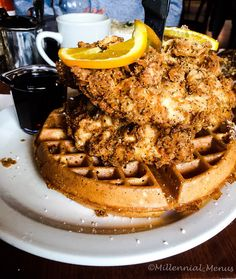 Amazing chicken and waffles from The Screen Door