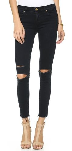 J Brand Mid Rise Ankle Skinny Jeans