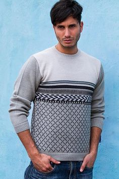 Men's 100% alpaca sweater, 'Millenary Voyager'. Sporting casual elegance, this sweater for men is designed by Fernando Cano. The jersey stitch sweater is knit of alpaca, a warm, lightweight and soft fleece worn in the Andes since the days of the Inca Empire. Made in Peru. Shop from #UNICEFMarket and help UNICEF save the lives of children around the world.