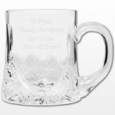 Personalised Half Pint Crystal Tankard Personalised Half Pint Crystal Tankard This stunning cut crystal half pint tankard make the perfect gift for that special occasion as it can be engraved with any message of your choice over 4 lines (2 http://www.comparestoreprices.co.uk/gift-ideas/personalised-half-pint-crystal-tankard.asp