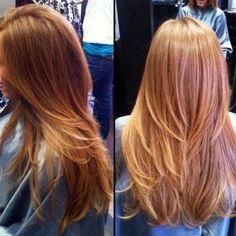 Corte de pelo a capas en pico