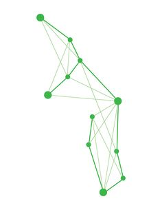 Virgo Geometric Constellation by Julie Campbell
