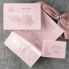 Wedding Proclamation Pink A Creative Use Of Z Fold Gives This Ensemble The Look An Official Invite Guests To Your Royal Celebration