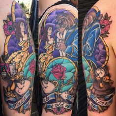 beauty and the beast tattoo - Google Search
