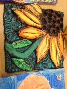 Why I Love Art: Alternative to glazing ceramic tiles Resist: color with crayon and watercolor on top