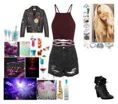 """""""wisper/cham  partying"""" by frostedrose on Polyvore featuring SOPHIE MILLER, Bling Jewelry, Tiffany & Co., Miadora, Glitzy Rocks, Herbivore, Topshop, Yves Saint Laurent and Libertine"""