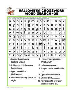 Halloween Wordsearch Crossword Thanksgiving Word Search, Halloween Word Search, Halloween Puzzles, Thanksgiving Words, Halloween Words, Spelling Help, Easy Word Search, Teacher Toolkit, Hidden Words