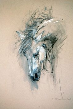 Equestrian art, bull paintings, modern abstract originals and prints for sale. Limited edition giclee prints and originals of horses and bulls in mixed media. Horse Drawings, Animal Drawings, Art Drawings, Abstract Drawings, Bull Painting, Painting & Drawing, Horse Sketch, Horse Artwork, Watercolor Horse