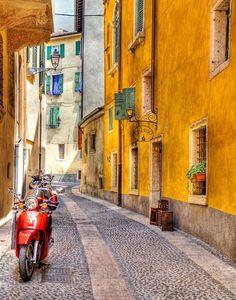 Small street in Verona, Italy