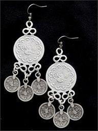 Turkish Jewelry Coin Dangle Earrings