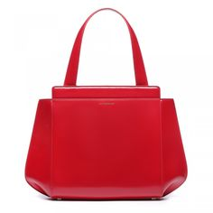 Red Polished Leather Medium Kate | Handheld Bags | Handbags | Lulu Guinness