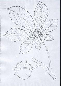 liść kasztanowca szablon - Szukaj w Google
