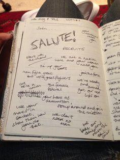 Salute | Behind the scenes lyrics